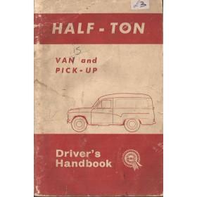 Morris Half Ton Van Instructieboekje   Benzine Fabrikant 65 met gebruikssporen   Engels