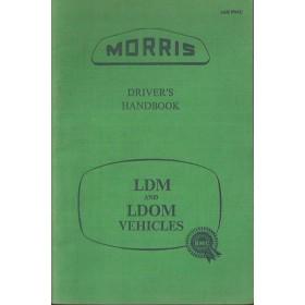 Morris LDM/LDOM Instructieboekje   Benzine Fabrikant 58 ongebruikt   Engels
