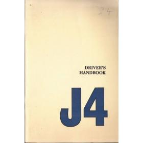 Morris J4 Instructieboekje   Benzine Fabrikant 72 met gebruikssporen   Engels
