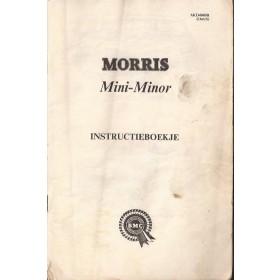 Morris Mini Minor Instructieboekje   Benzine Fabrikant 67 met gebruikssporen kaft ontbreekt  Nederlands