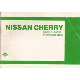 Nissan Cherry Instructieboekje  model N12 Benzine Fabrikant 83 met gebruikssporen   Nederlands