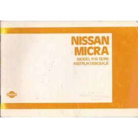Nissan Micra Instructieboekje  model K10 Benzine Fabrikant 84 met gebruikssporen   Nederlands