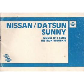 Nissan Sunny Instructieboekje  model B11 Benzine/Diesel Fabrikant 83 met gebruikssporen   Nederlands