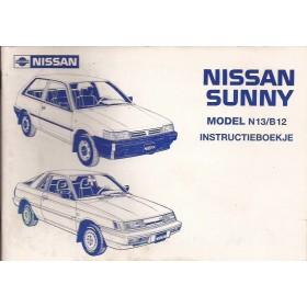 Nissan Sunny Instructieboekje  model N13/B12 Benzine/Diesel Fabrikant 86 met gebruikssporen   Nederlands