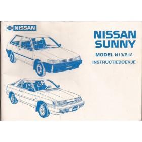 Nissan Sunny Instructieboekje  model N13/B12 Benzine/Diesel Fabrikant 87 met gebruikssporen   Nederlands