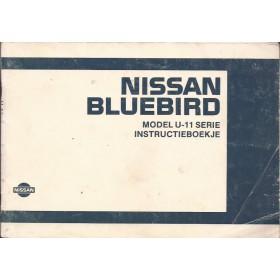 Nissan Bluebird Instructieboekje  model U11 Benzine/Diesel Fabrikant 84 met gebruikssporen   Nederlands