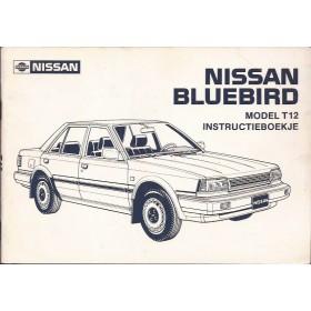 Nissan Bluebird Instructieboekje  model T12 Benzine/Diesel Fabrikant 87 ongebruikt   Nederlands