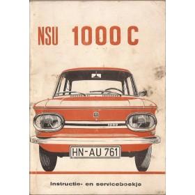 NSU 1000C Instructieboekje   Benzine Fabrikant 70 met gebruikssporen   Nederlands