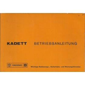 Opel Kadett C Instructieboekje   Benzine Fabrikant 75 met gebruikssporen   Duits