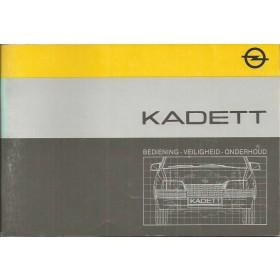 Opel Kadett E Instructieboekje   Benzine/Diesel Fabrikant 84 ongebruikt   Nederlands