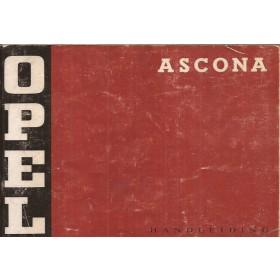 Opel Ascona A Instructieboekje   Benzine Fabrikant 72 met gebruikssporen   Nederlands