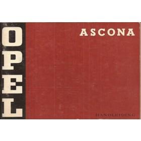 Opel Ascona A Instructieboekje   Benzine Fabrikant 73 ongebruikt   Nederlands