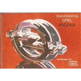 Opel Ascona C Instructieboekje   Benzine Fabrikant 81 ongebruikt   Nederlands