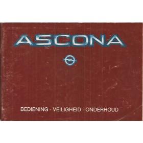 Opel Ascona C Instructieboekje   Benzine Fabrikant 83 met gebruikssporen   Nederlands
