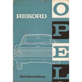Opel Rekord A Instructieboekje   Benzine Fabrikant 64 met gebruikssporen   Duits