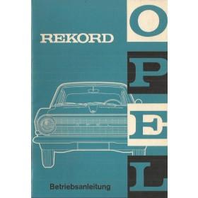 Opel Rekord A Instructieboekje   Benzine Fabrikant 65 ongebruikt   Duits