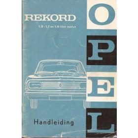 Opel Rekord B Instructieboekje   Benzine Fabrikant 65 met gebruikssporen   Nederlands