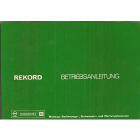 Opel Rekord C Instructieboekje   Benzine/Diesel Fabrikant 75 met gebruikssporen   Duits