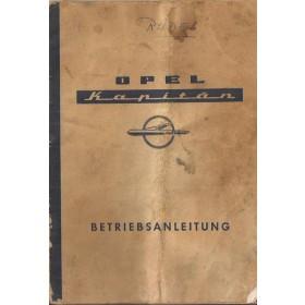 Opel Kapitan Instructieboekje   Benzine Fabrikant 57 met gebruikssporen vouw in boekje  Duits