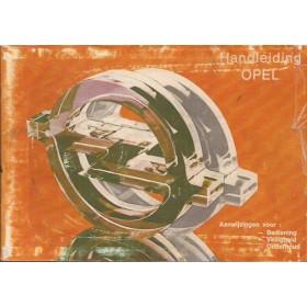 Opel Kadett D/Ascona B/Manta B/Rekord E Instructieboekje   Benzine Fabrikant 80 met gebruikssporen oranje kaft, scheurtje in kaft  Nederlands