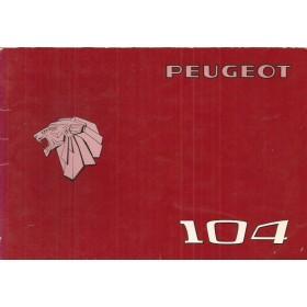 Peugeot 104 Instructieboekje   Benzine Fabrikant 76 ongebruikt   Nederlands/Duits/Frans/Italiaans