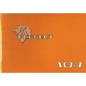 Peugeot 104 Instructieboekje   Benzine Fabrikant 78 ongebruikt   Nederlands/Duits/Frans/Italiaans