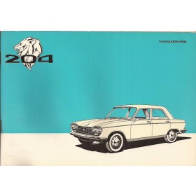 Peugeot 204 Instructieboekje   Benzine Fabrikant 71 met gebruikssporen   Nederlands