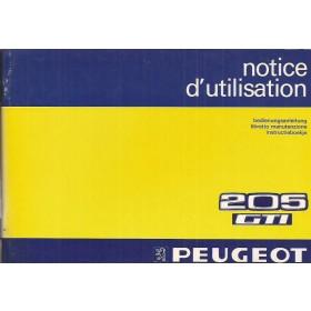 Peugeot 205 Gti Instructieboekje   Benzine Fabrikant 84 ongebruikt   Nederlands/Duits/Frans/Italiaans