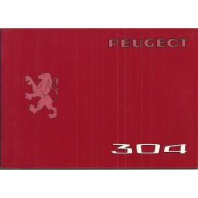 Peugeot 304 Instructieboekje   Benzine Fabrikant 75 ongebruikt in originele map, met dealeroverzicht  Nederlands/Duits/Frans/Italiaans