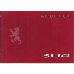 Peugeot 304 Instructieboekje   Benzine Fabrikant 75 met gebruikssporen   Nederlands/Duits/Frans/Italiaans