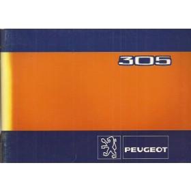 Peugeot 305 Instructieboekje   Benzine Fabrikant 82 ongebruikt