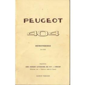 Peugeot 404 Instructieboekje   Benzine Fabrikant 60 met gebruikssporen   Nederlands