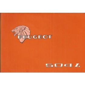 Peugeot 504 L Instructieboekje   Benzine Fabrikant 77 ongebruikt   Nederlands/Duits/Frans/Italiaans