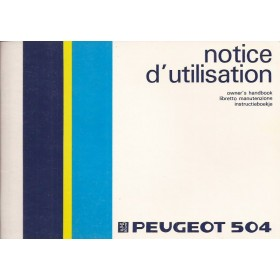Peugeot 504 Instructieboekje   Benzine Fabrikant 85 ongebruikt   Nederlands/Engels/Italiaans