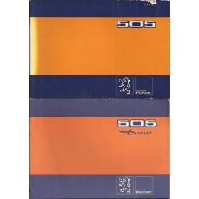 Peugeot 505 Instructieboekje   Benzine/Diesel Fabrikant 80 met gebruikssporen met dieselsupplement  Nederlands/Duits/Frans/Italiaans