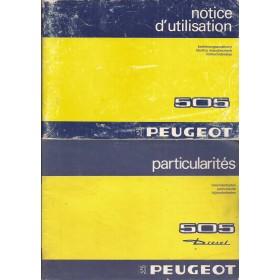 Peugeot 505 Instructieboekje   Benzine/diesel Fabrikant 83 met gebruikssporen met dieselsupplement  Nederlands/Duits/Frans/Italiaans