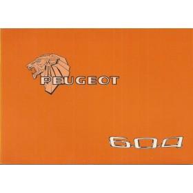 Peugeot 604 Instructieboekje   Benzine Fabrikant 77 ongebruikt   Nederlands/Duits/Frans/Italiaans