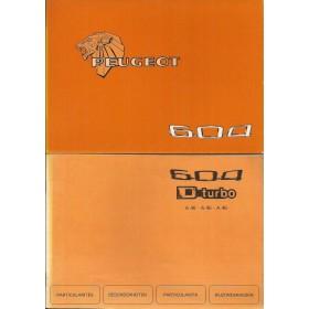 Peugeot 604 Instructieboekje   Benzine/Diesel Fabrikant 80 ongebruikt met dieselsupplement  Nederlands/Duits/Frans/Italiaans