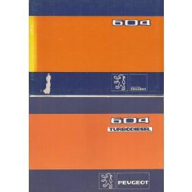 Peugeot 604 Instructieboekje   Benzine/Diesel Fabrikant 81 ongebruikt met dieselsupplement  Frans/Engels/Spaans/Zweeds