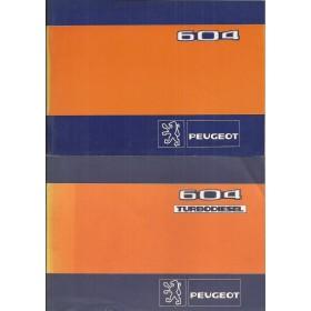 Peugeot 604 Instructieboekje   Benzine/Diesel Fabrikant 82 ongebruikt met dieselsupplement  Frans/Engels/Spaans/Zweeds