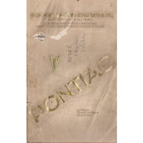 Pontiac LeMans/Grand Am Instructieboekje   Benzine Fabrikant 79 met gebruikssporen beschadigde kaft  Engels