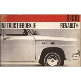 Renault 8 Instructieboekje   Benzine Fabrikant 66 met gebruikssporen   Nederlands