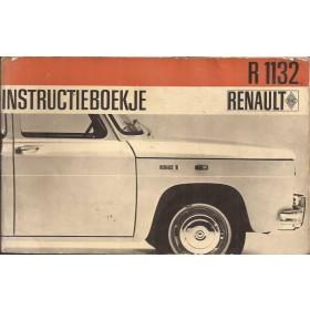 Renault 8 Instructieboekje   Benzine Fabrikant 67 met gebruikssporen lichte vochtschade  Nederlands