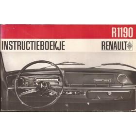 Renault 10 Instructieboekje   Benzine Fabrikant 67 met gebruikssporen   Nederlands