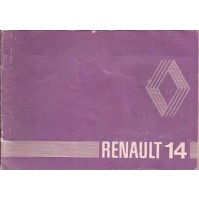 Renault 14 Instructieboekje   Benzine Fabrikant 81 met gebruikssporen   Nederlands