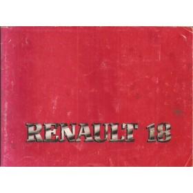 Renault 18 Instructieboekje   Benzine Fabrikant 82 met gebruikssporen   Nederlands