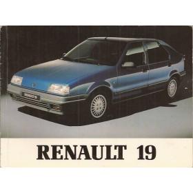 Renault 19 Instructieboekje   Benzine Fabrikant 90 met gebruikssporen   Nederlands