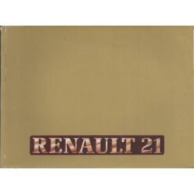 Renault 21 Instructieboekje   Benzine/Diesel Fabrikant 86 met gebruikssporen   Nederlands