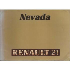Renault 21 Nevada Instructieboekje   Benzine/Diesel Fabrikant 88 met gebruikssporen   Nederlands