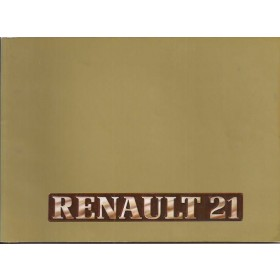 Renault 21 Instructieboekje   Benzine/Diesel Fabrikant 89 met gebruikssporen   Nederlands